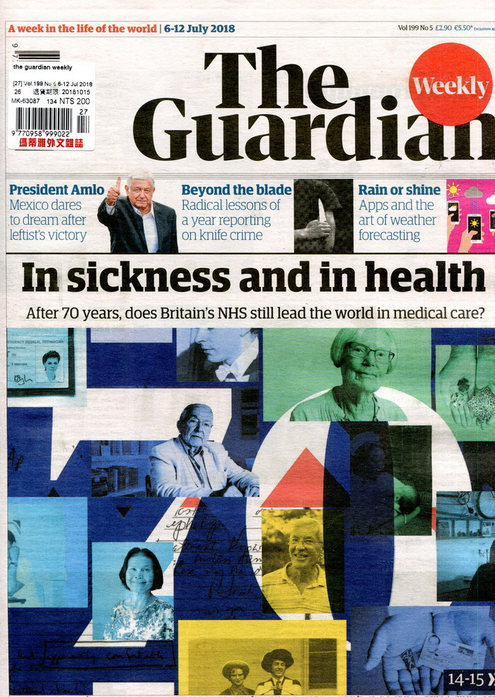 the guardian weekly Vol.199 No.5 7月6-12日/2018