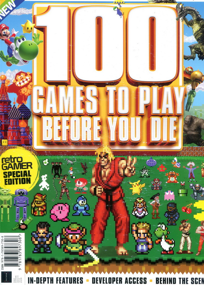 retro GAMER 100 GAMES TO PLAY BEFORE YOU DIE 第1版