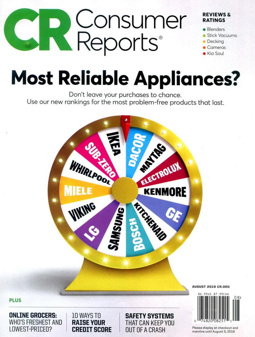 Consumer Reports 8月號/2019
