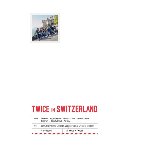 TWICE 週邊 TWICE TV5 / TWICE in SWITZERLAND 寫真書