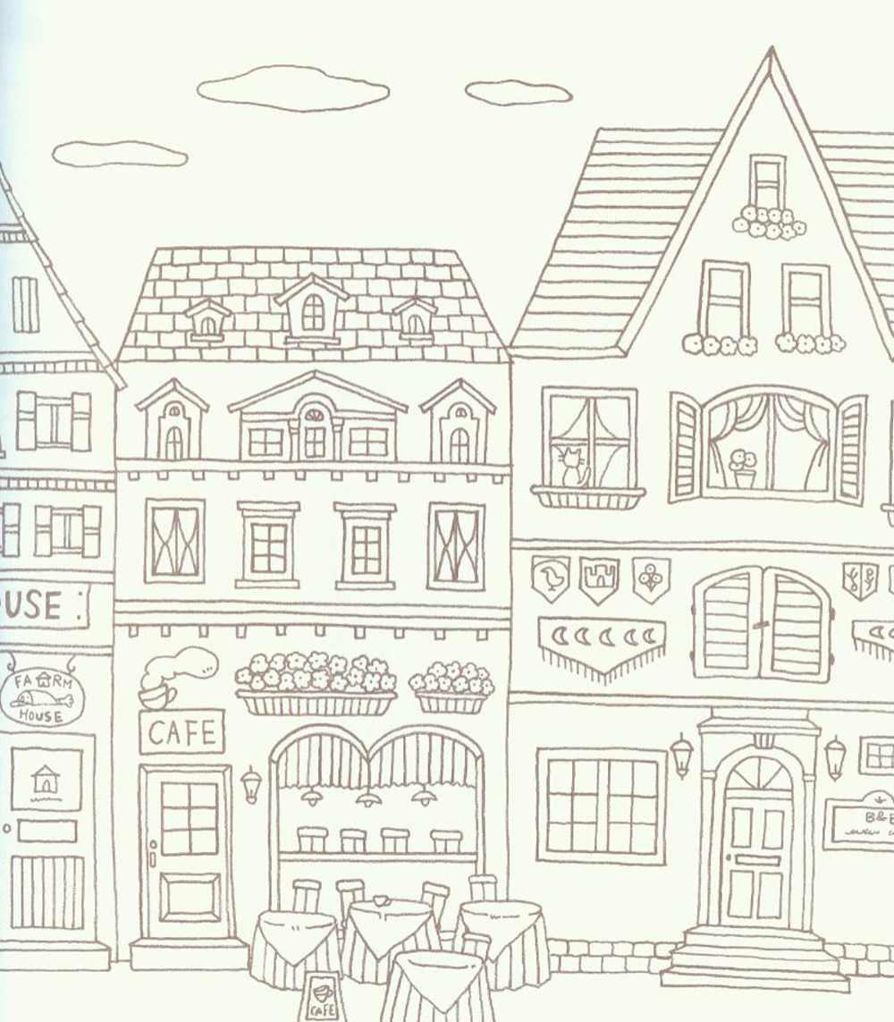 Romantic Country Coloring Pages