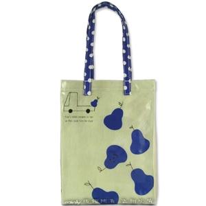 Shinzi Katoh 插畫家PVC防水便利側揹包-藍色西洋梨