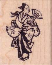 Kodomo 和風楓木印章- 仕女圖3