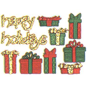 造型彩色鈕釦-聖誕禮物
