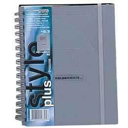 3分隔板線圈筆記本A4-銀.專業型辦公系列