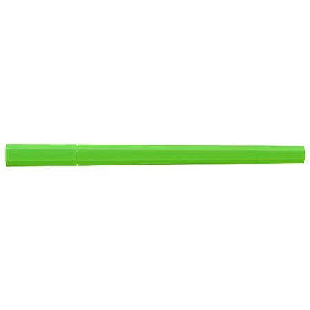 [MUJI 無印良品]六角雙頭水性筆/螢光綠