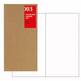 MIDORI Traveler's Notebook Refill 003 補充包-空白472