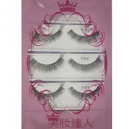 美妝達人透明梗細緻假睫毛束狀款Y01(5對入)日韓最新流行透明梗假睫毛