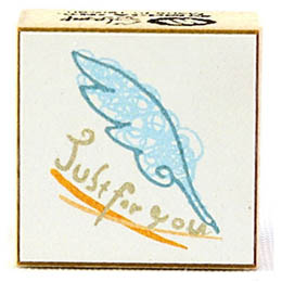 彩色翅膀壓縮木印章