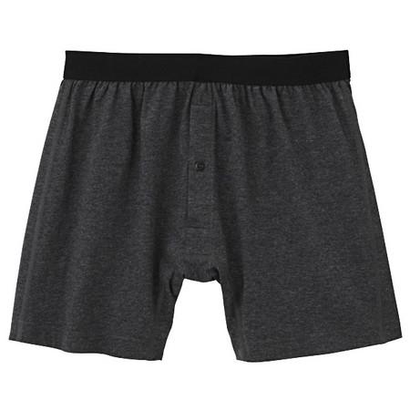 [MUJI 無印良品]男棉天竺前開釦內褲墨灰L