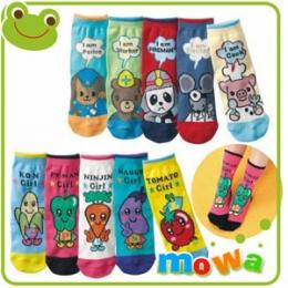 【mowa】日單可愛童趣造型平板襪(13-15cm)【十入】