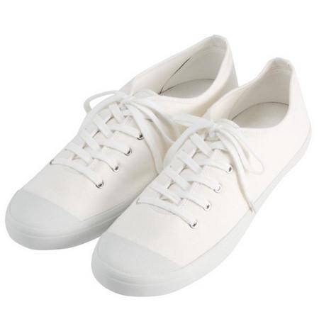 [MUJI 無印良品]男棉水洗休閒鞋柔白27.5