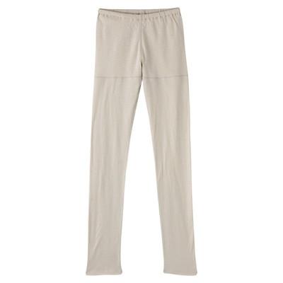 [MUJI 無印良品]女棉拼接鬆感緊身褲米色M