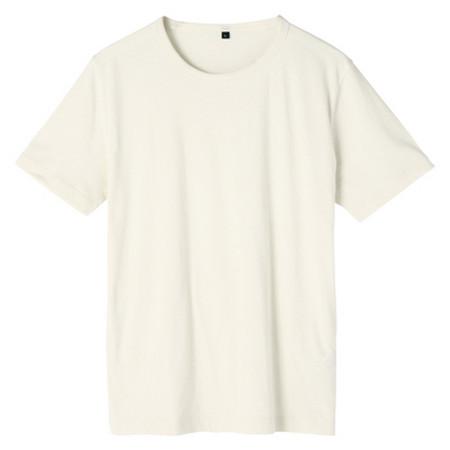[MUJI 無印良品]男棉素色短袖T恤象牙L