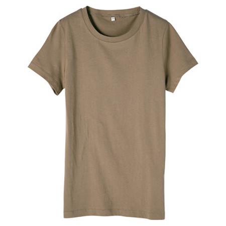 [MUJI 無印良品]女棉圓領短袖T恤米色XL
