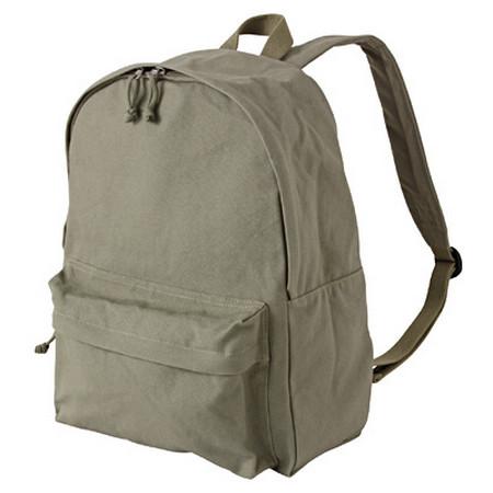 [MUJI 無印良品]棉質後背包卡其