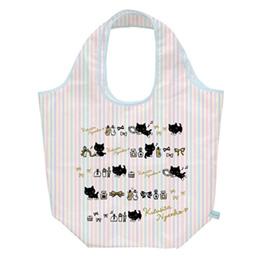 San-X小襪貓條紋隨身購物袋