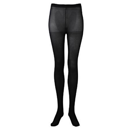[MUJI 無印良品]舒適尼龍螺紋緊身褲襪黑色M-L