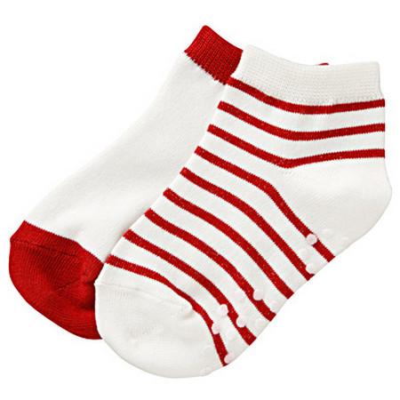 [MUJI 無印良品]嬰兒附姓名欄位隱形襪/2入紅色