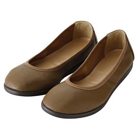 [MUJI 無印良品]女柔軟內裡平底鞋11S卡其23.5