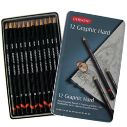 DERWENT Graphic Hard 製圖鉛筆 製圖用 鐵盒12支入 B~9H