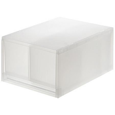 [MUJI 無印良品]PP盒/深型/2格/附隔板(正反疊)