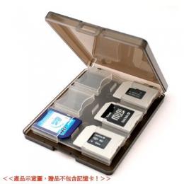 彩晶12入多 記憶卡收納保存盒 ~ 黑色
