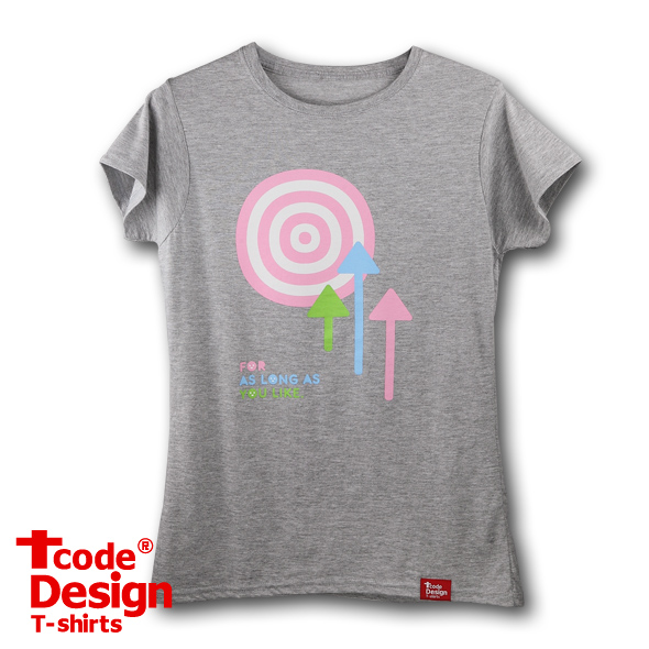 Tcode 0017【Art of Archery】女版S 深麻灰-美國棉T