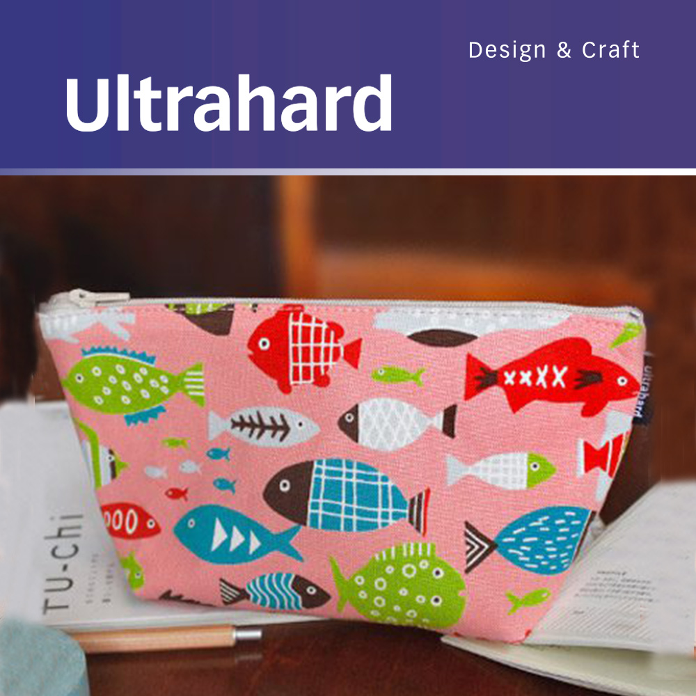 ultrahard 日和寬底筆袋 收納袋系列﹣水族館