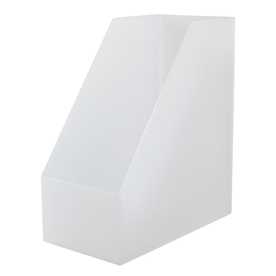 [MUJI 無印良品]PP立式檔案盒/斜口.A4.寬