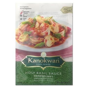 《Kanokwan咖努彎》泰式打拋羅勒醬(50g/包)