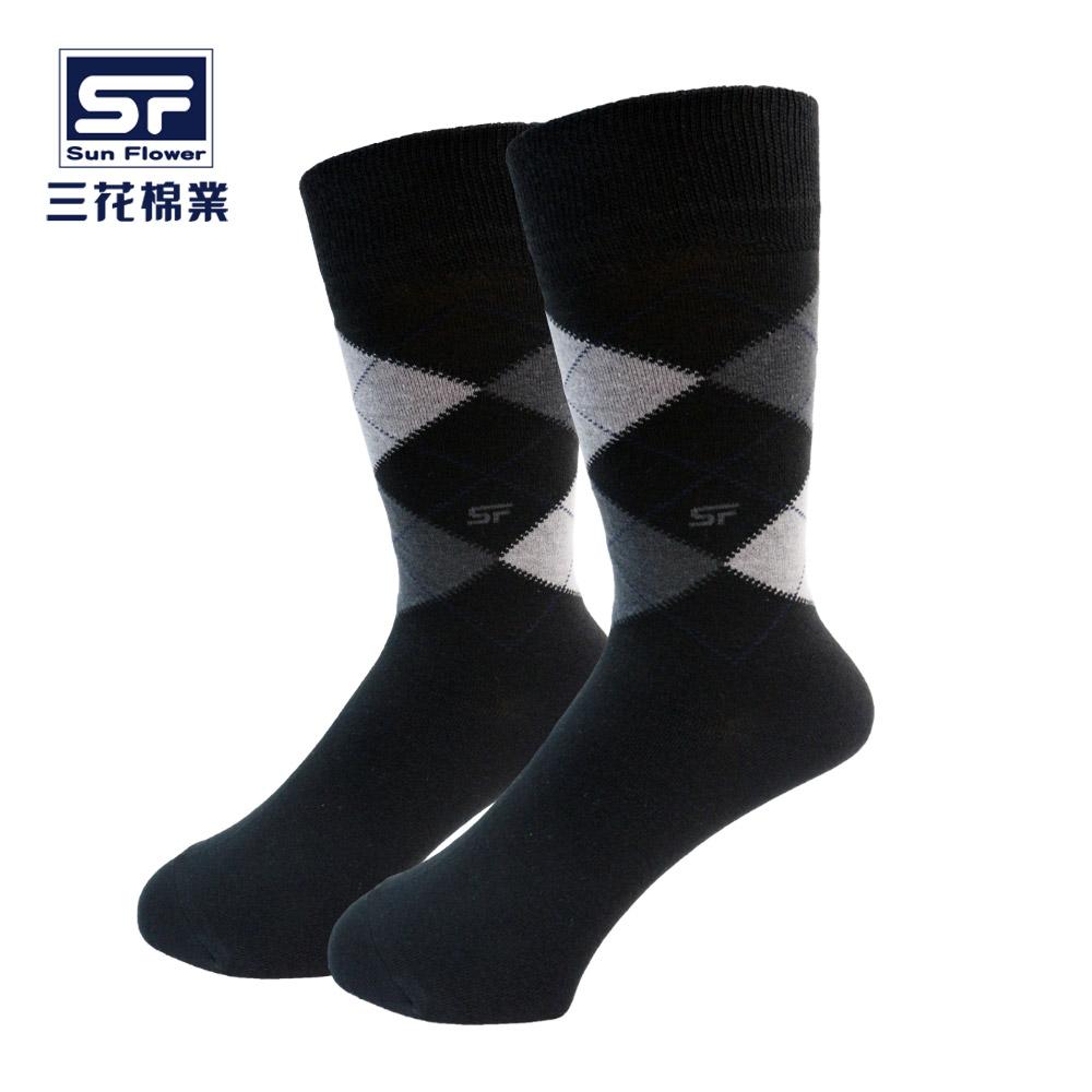 【三花棉業】500_三花少男休閒棉襪 黑