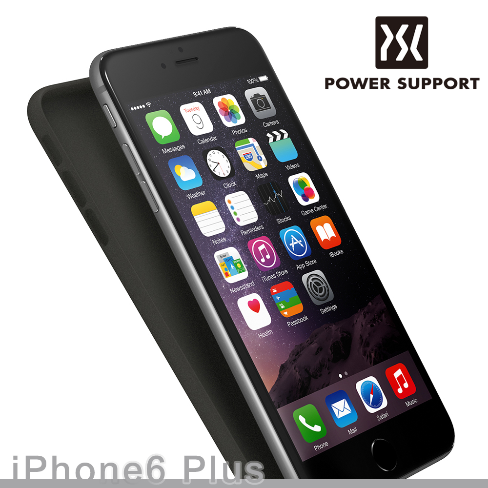 POWER SUPPORT iPhone6s / 6 Plus (5.5吋) Air jacket 保護殼 - 黑色(附螢幕保護貼)