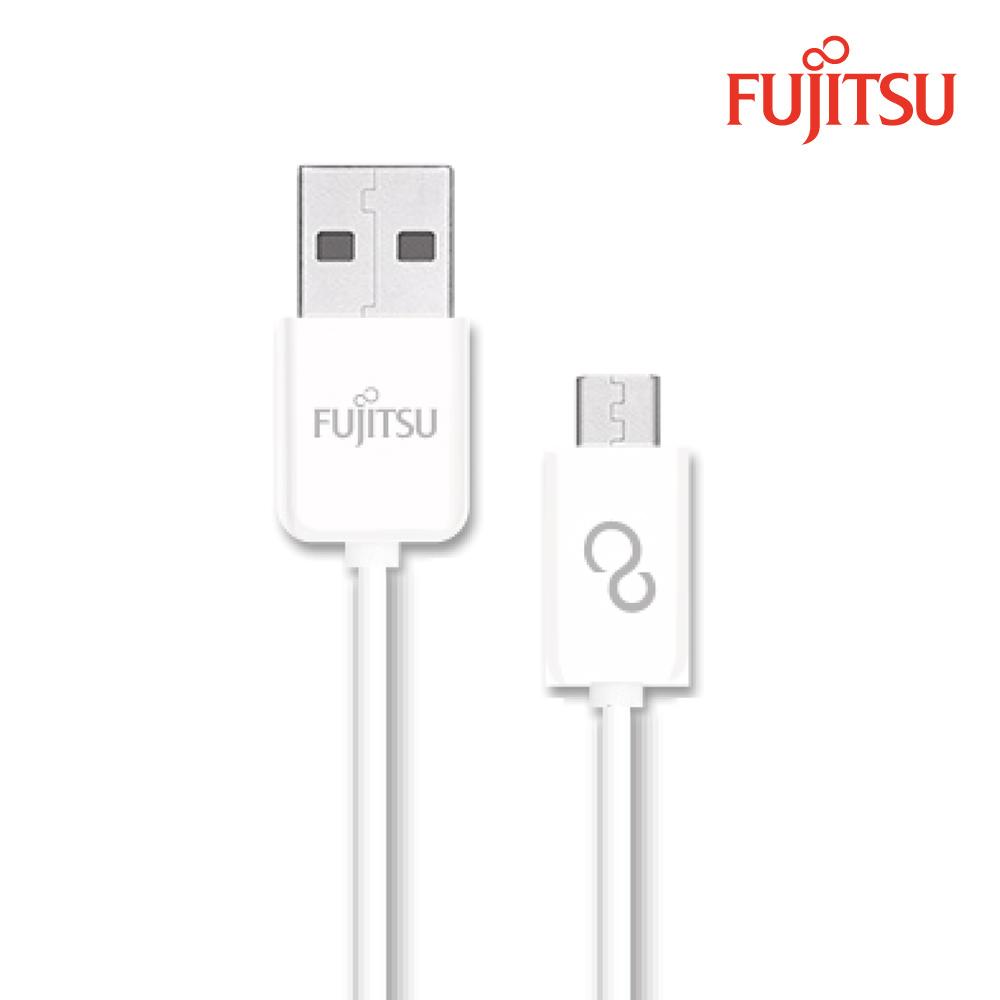 FUJITSU富士通MICRO USB傳輸充電圓線-15CM  白