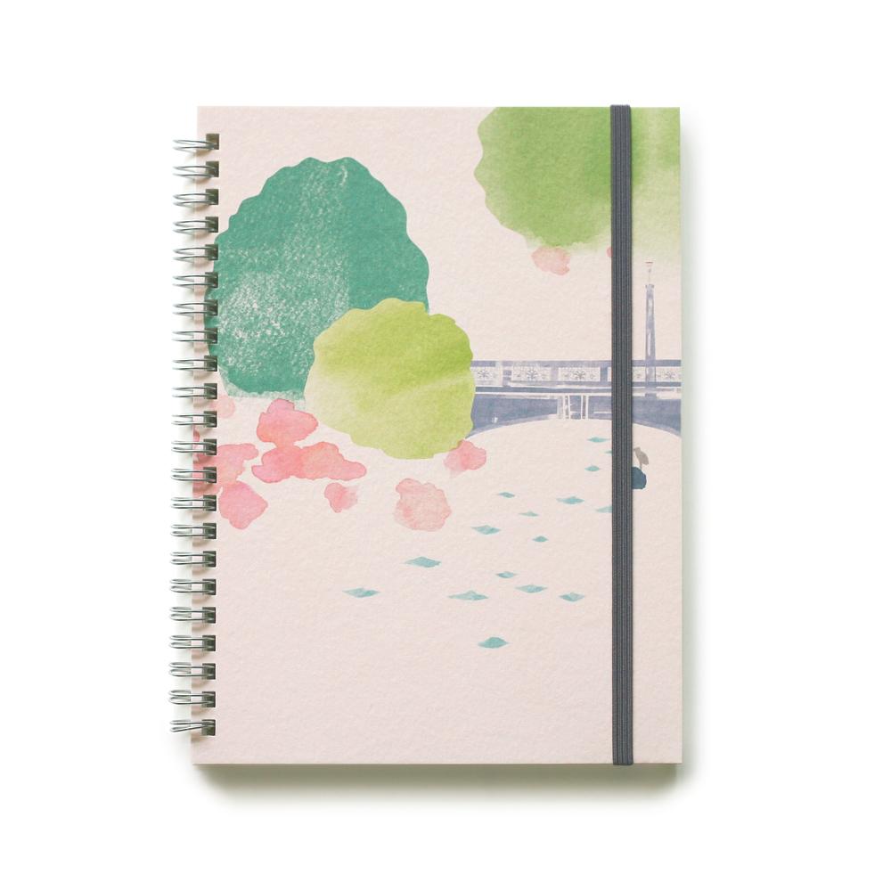實心美術~寫旅行~筆記本 14號 綠川