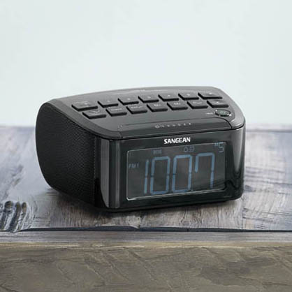 【SANGEAN】山進 RCR-24 二波段 數位式時鐘收音機 黑色 大型LCD顯示幕 FM適用各國頻率範圍