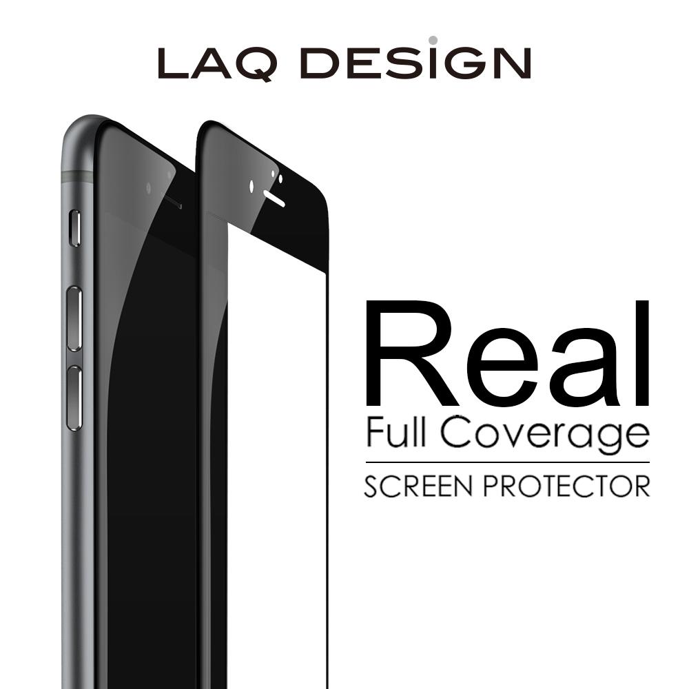 LAQ DESiGN iPhone6s / 6 Plus (5.5吋) 3D真滿版 鋼化玻璃保護貼- 黑框款