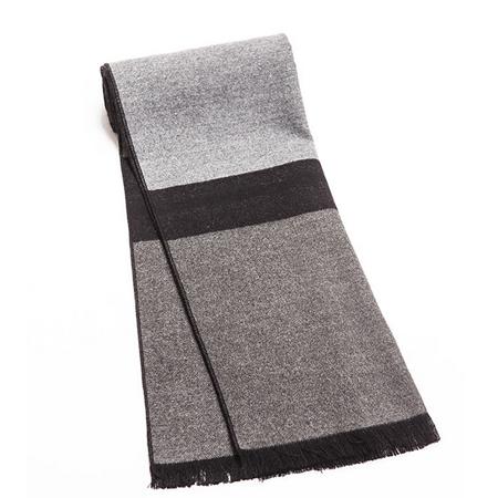 男士高檔柔軟仿羊絨圍巾灰色