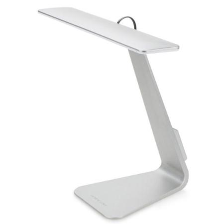 LED北歐時尚超薄觸摸充電燈銀色