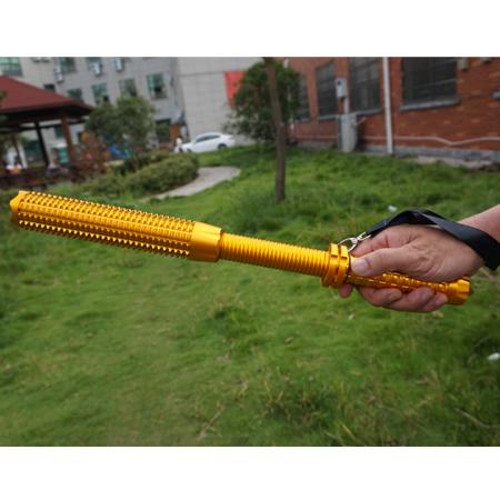 狼牙棒安全防衛型手電筒金色