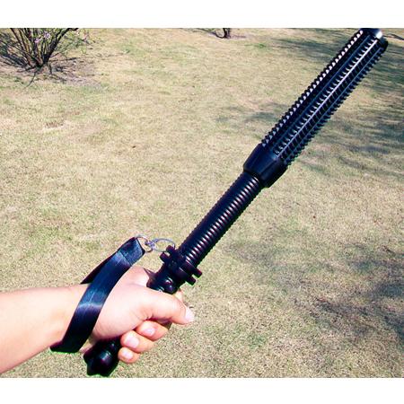 狼牙棒安全防衛型手電筒黑色
