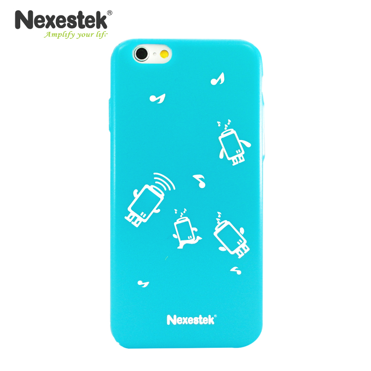 Nexestek 全包覆炫彩漆藍保護殼 - iPhone 6 / 6S 專用(公仔款)炫彩漆藍