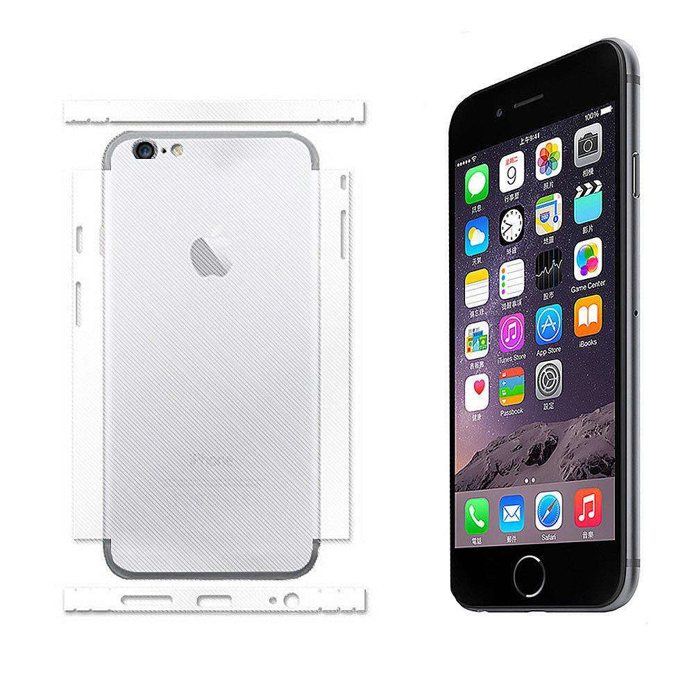 Apple iPhone 6 4.7吋 網紋亮面保護側邊/背面貼(2入組)