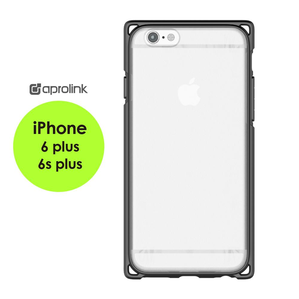 AproLink iPhone6s plus 耐衝擊雙料保護殼深灰