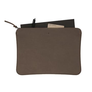 labrador 皮革文件袋(灰褐)