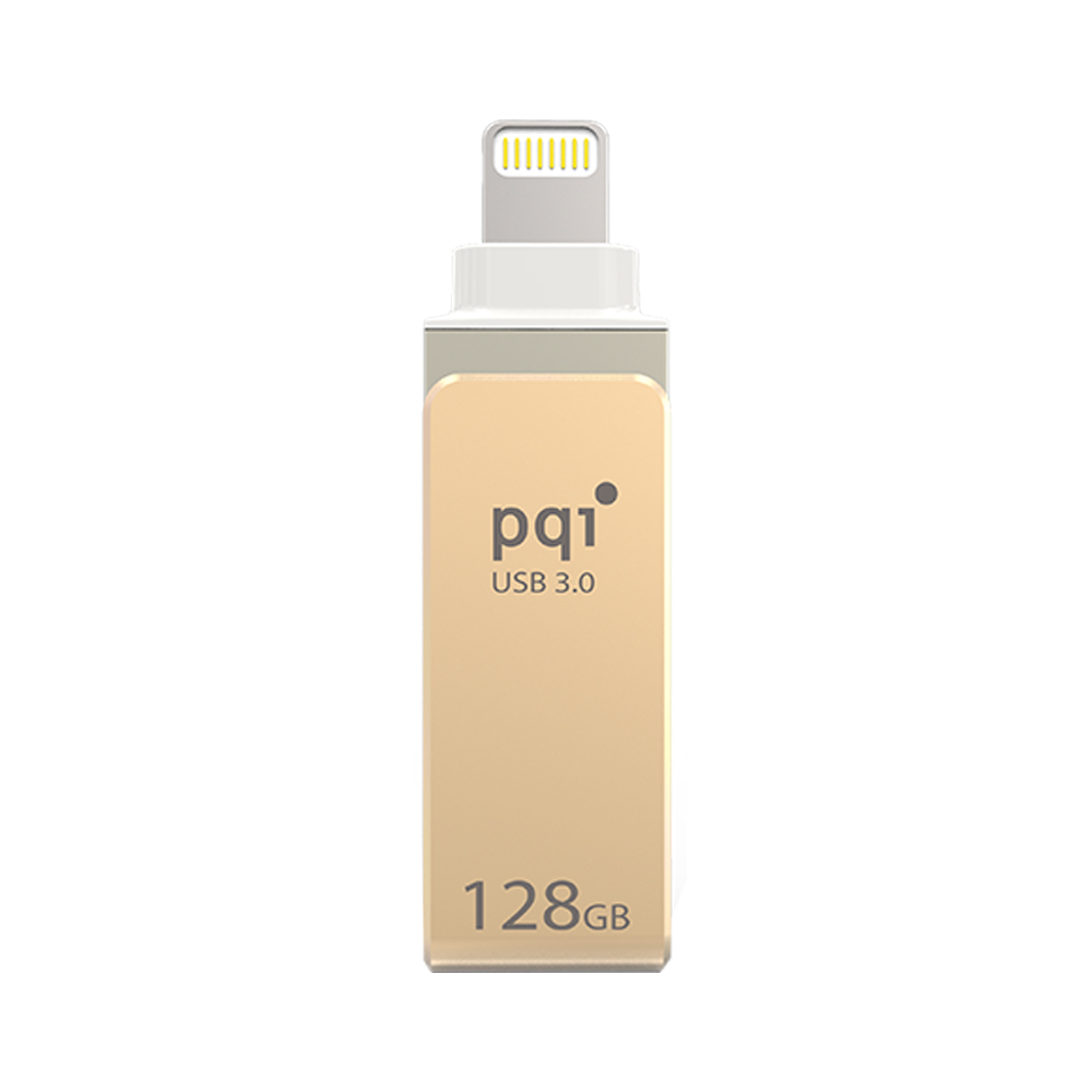 PQI iConnect mini 128GB USB 3.0 iPhone雙享碟 (金)