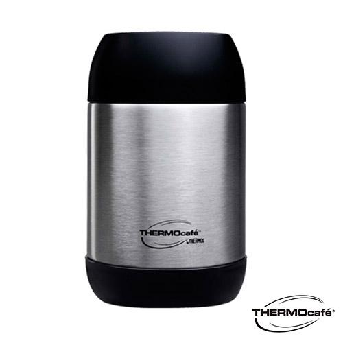 【THERMO Cafe】凱菲系列 不鏽鋼真空食物罐0.5L(GS3001SBK)不鏽鋼色