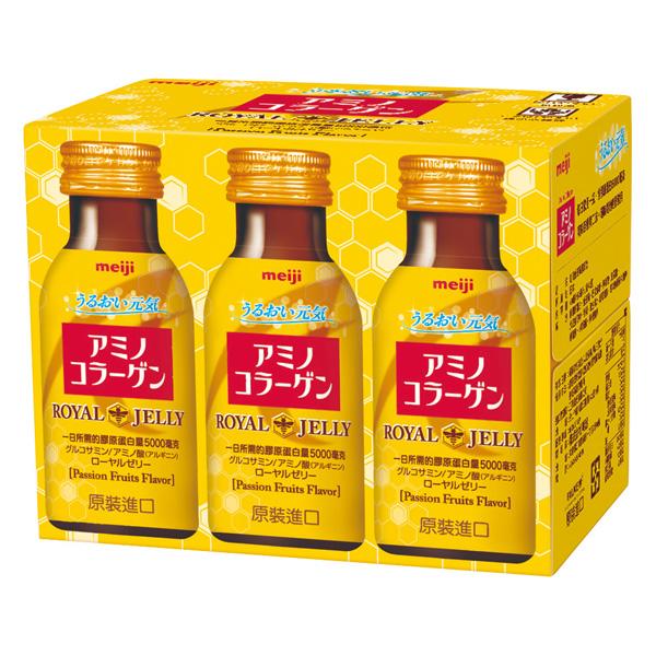 【明治】蜂王乳膠原飲(75ml*6入)