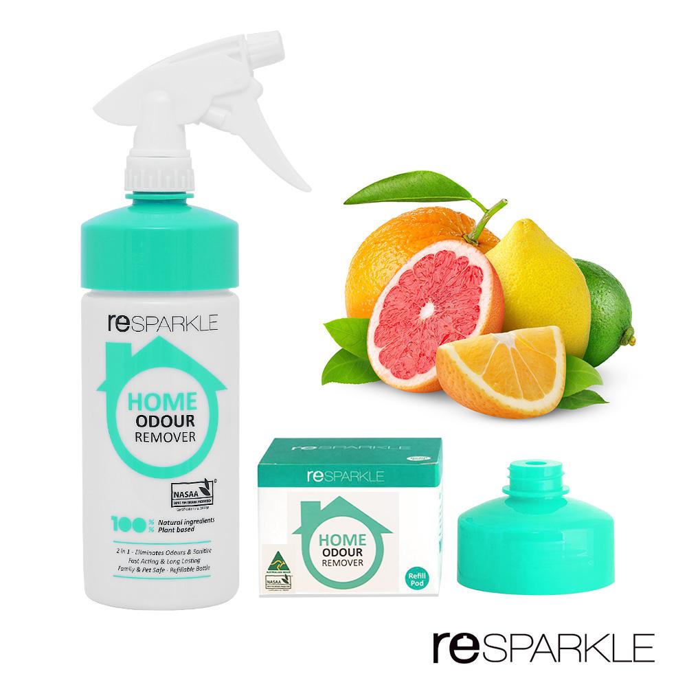 【澳洲reSPARKLE】有機殺菌氣味芳香組(清潔劑+補充劑)綠