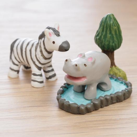 ~Maruwa~迷你動物朋友擺飾 河馬與斑馬